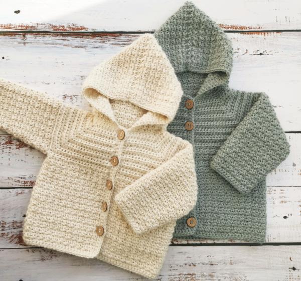 hækleopskrift jakke til baby